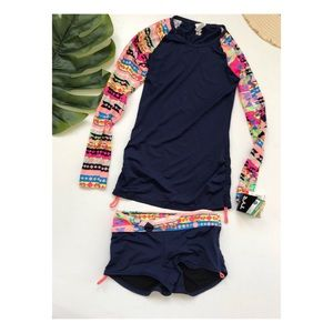NWT TYR Long skeeve shirt & bottoms swimsuit S 4/6